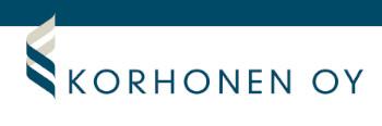 Korhonen Oy Tili- ja kiinteistötoimisto logo